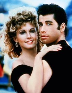 "Olivia Newton John and John Travolta in 1978  movie "" Grease"" - a Google image"