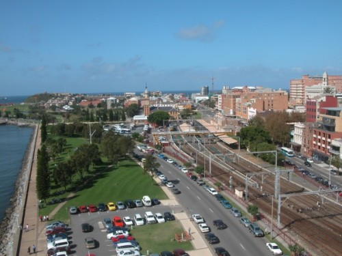 Aerial of Newcastle - a Google image