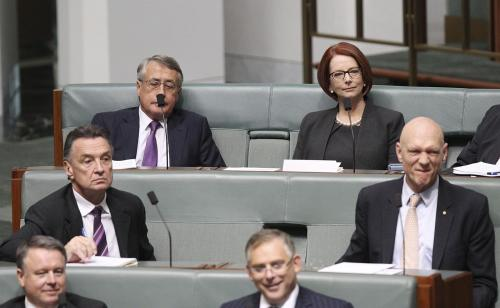 The naughty back benches for J.Gillard and W.Swan - a Google image