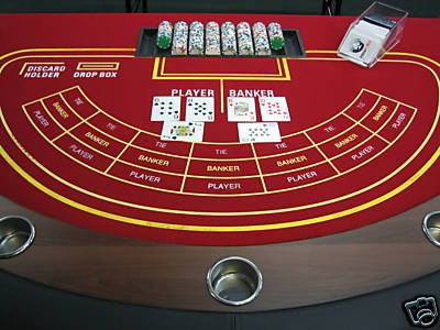 A Baccarat table - a Google image