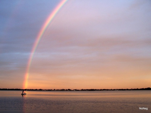 Rainbow - Lake Macquarie. Image by NoNeg (me)