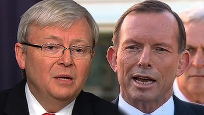 Kevin Rudd and Tony Abbott - a SMH image