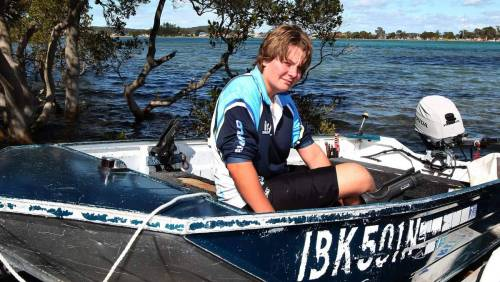 Patrick Nunn - buzzed by a great white in Lake Macquarie.
