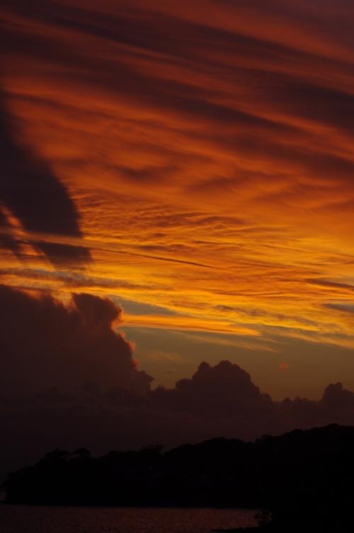 Sunset Lake Macquarie looking past Eraring.