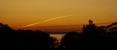 Early morning jet trail - NoNeg Imaging