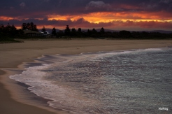 Blacksmiths Bch sunset with surf - NoNeg Imaging