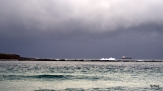 Ship anchored off Moon Island/Green Island under clouds - NoNeg Imaging