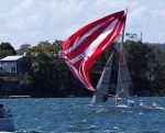 43- Red/white spinnaker - NoNeg