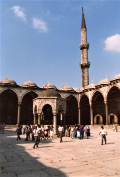 Exterior courtyard, The Blue Mosque, Istanbul 1987